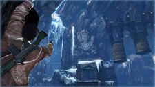 Nathan Drake in the ice temple
