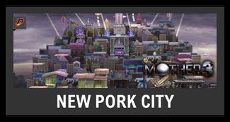Super Smash Bros. Strife stage box - New Pork City