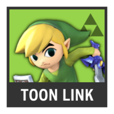 Super Smash Bros. Strife character box - Toon Link