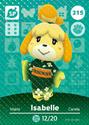 Isabelle - AC amiibo card 3