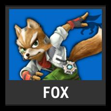 Super Smash Bros. Strife character box - Fox