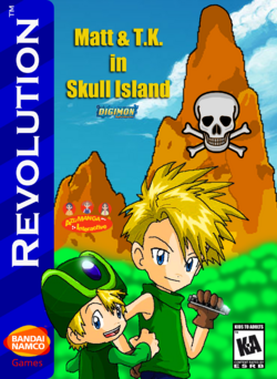 Matt and TK in Skull Island Box Art 1