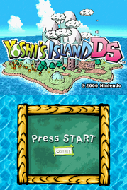Yoshis Island DS Title Screen
