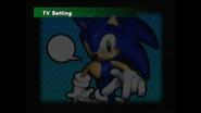 Sonic Adventure TV Ratio test menu