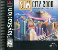 SimCity 2000 - portada PS1 USA
