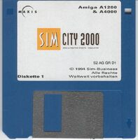SimCity 2000 - diskette Amiga EUR