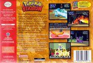Pokémon Stadium - Portada USA BACK