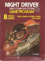 Night Driver portada Atari 2600