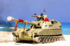 Egyptian M109 during Operation Bright Star 2005