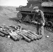 M7 Priest ammunition Anzio 31-01-1944 IWM NA 11636
