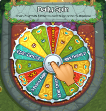 Daily spin wheel