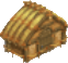 Wooden abode symbol