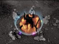 Zen-Aku being sealed
