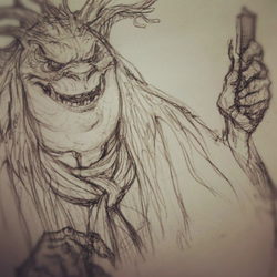Mulgarath grinning evilly