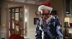 Ian in Santa hat