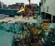 Sentinel Prime kills Ironhide