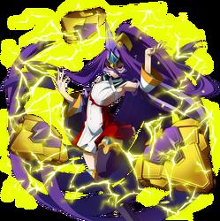 Hades Izanami (Centralfiction, story mode artwork, pre battle)