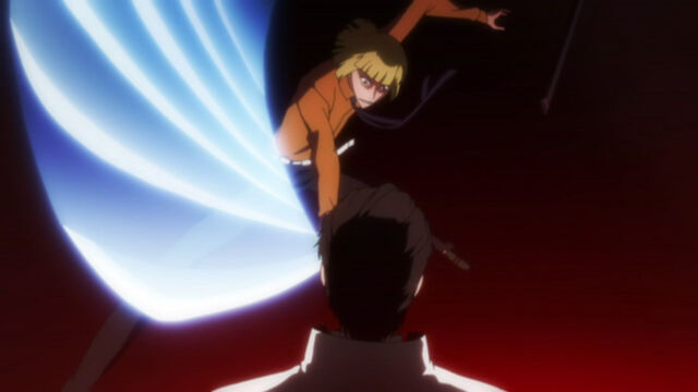 File:Shinji Attacks Aizen.jpg
