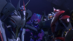 Starscream, Knock Out, Soundwave and Breakdown