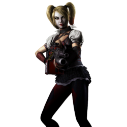 Injustice gau ios harley quinn render Arkham Knight