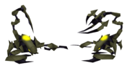 Metal klaws render