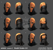 Arrow season2 deathstroke2 helmet development by andypoondesign-d73rg5i