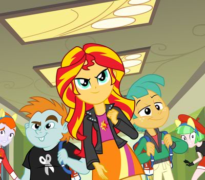 File:Snips and Snails with Sunset Shimmer.jpg