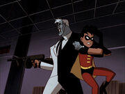 Two-Face with Tim Drake in hostage