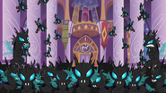 The changeling army blocking the way to the Elements of Harmony