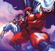 Ryu vs Bison street fighter