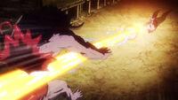 Akame ga Kill Episode 19 Kill the Fate Mine Slices Koro in Half