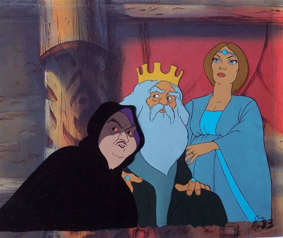 File:Grima the Wormtongue, King Theoden and Eowyn in the Golden Hall 3 cel .jpg