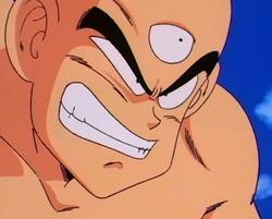 Tien's battle grin