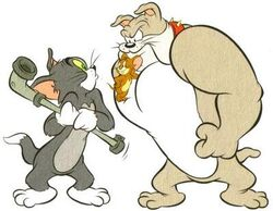 Tom with Jerry & Spike