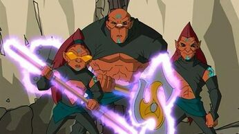 Dark chi warriors Finn, Ratso, and Chow