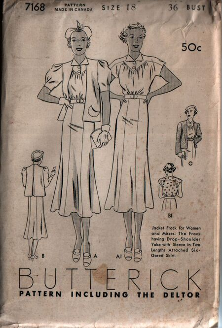 Butterick 7168 front