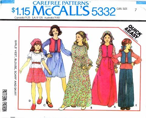 McCalls 1976 5332