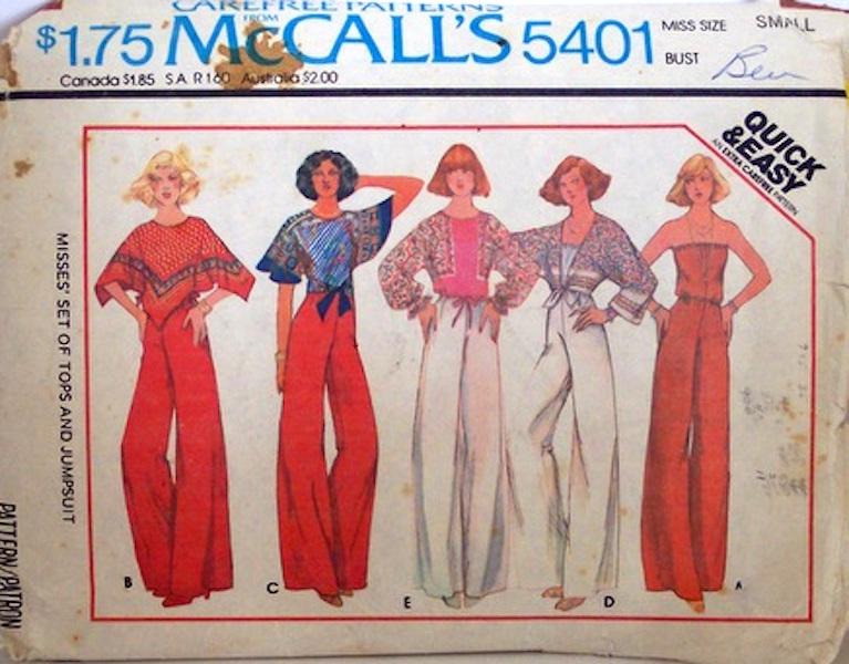 McCalls 5401 100 1880-1