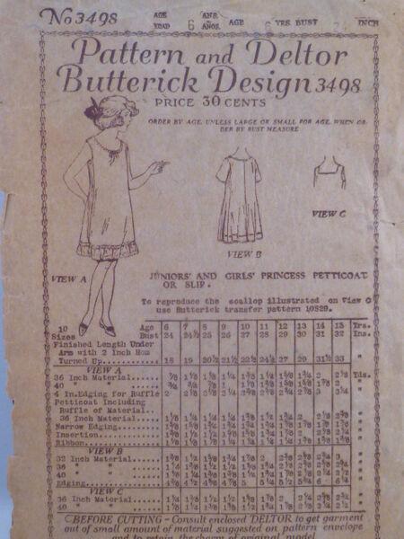 Butterick 3498 B