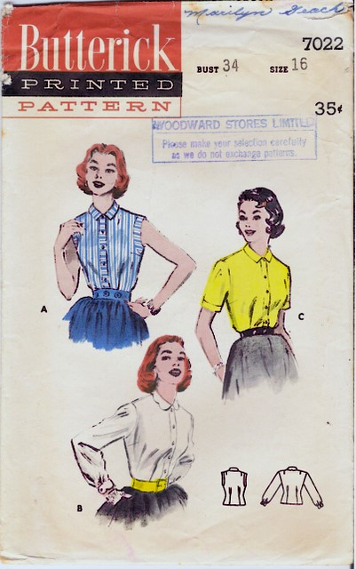 1950's Butterick 7022 front