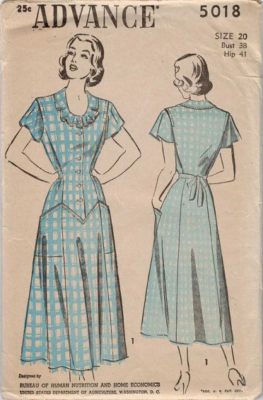 Advance 5018 - Circular Sleeve Dress