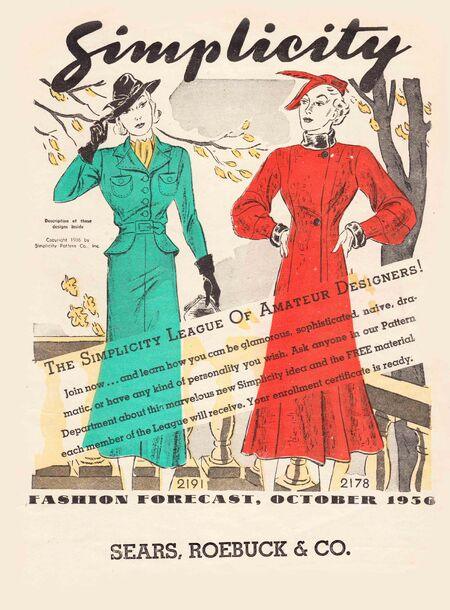 Simplicity Fashion Forecast October 1936