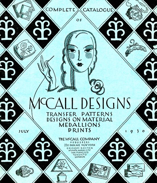 Complete Catalogue of McCall Designs July, 1930