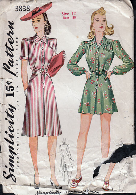 Vintage 1940s womens playsuit pattern from Penelope Rose