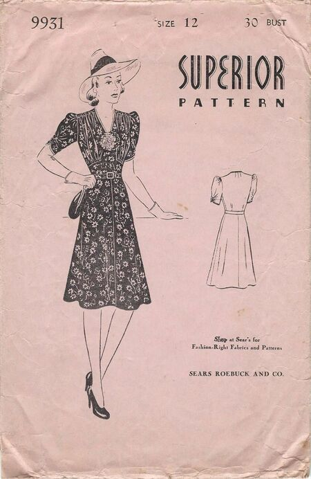 Superior pattern 9931, envelope front