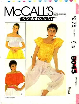 McCalls 1982 8045