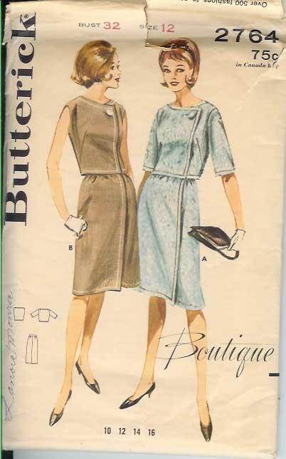 W-2764B 1960s-BOutique-dres