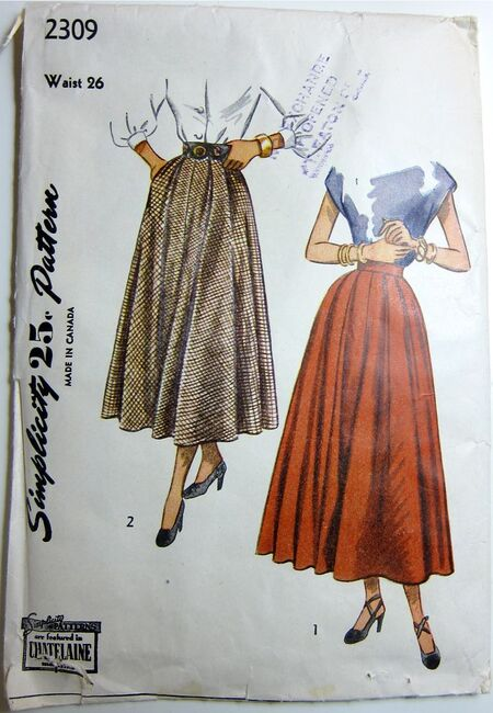 Vintage Simplicity 2309 Skirt