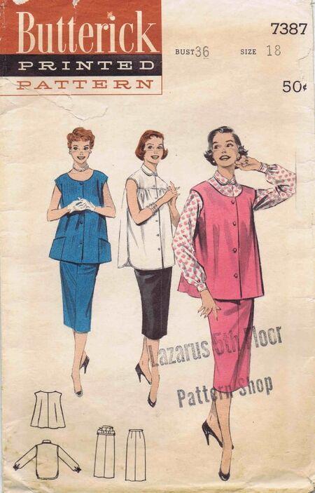 Butterick 1955 7387