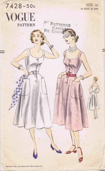Vogue 1952 7428